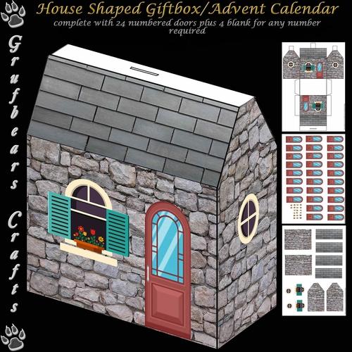 House Shaped Gift Boxadvent Calendar