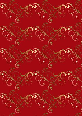 Red Amp Gold Filigree Background Paper Cup75467 351