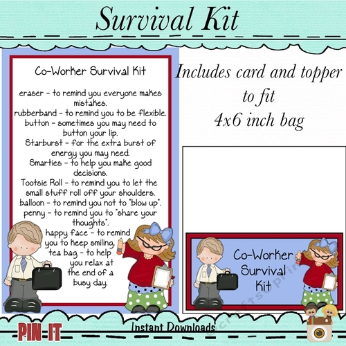 photo relating to Printable Survival Cards known as Co-Personnel Survival Package