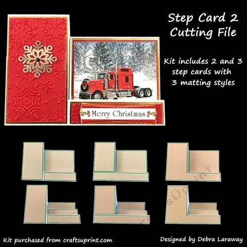 A path of paper: dresser stair-step card | stepper cards.
