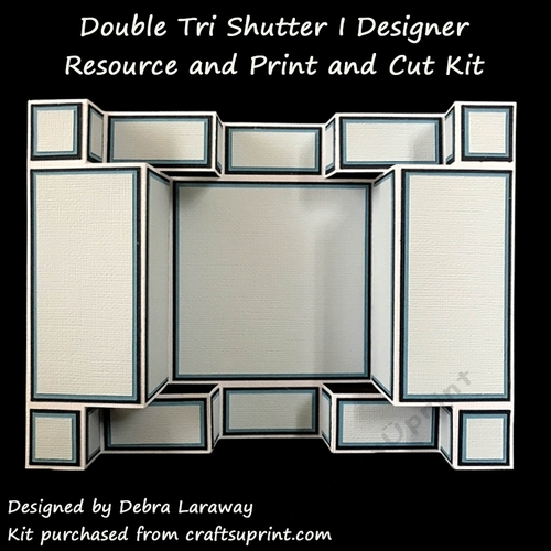 Double Tri Shutter Card I Commercial Use Template And
