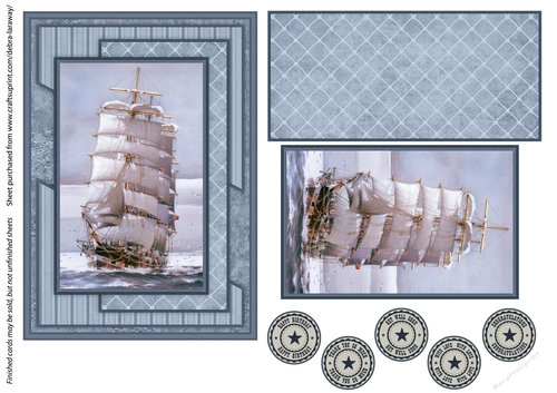 Nautical sailing ship ocean fathers day mens birthday cards for men quick  card