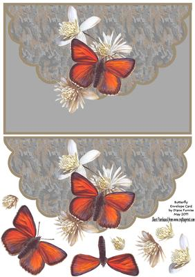 Download Butterfly Envelope Card - CUP213461_174 | Craftsuprint