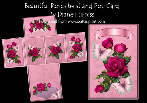 Antique rose Pyramid topper by Diane Furniss