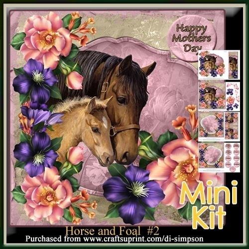 Mini Kit- Beautiful Horse And Foal For Lots Of Occasions