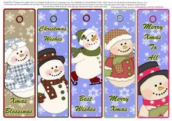 5 Beautiful Christmas Bookmarks #2 - CUP629655_986 | Craftsuprint