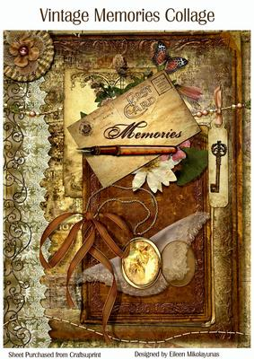 Vintage Memories Collage Journal Cover Cup225912 503