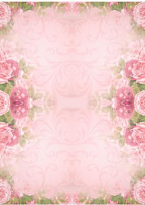vintage rose border backing background paper cup452477
