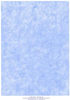 Ice Blue Mulberry Effect A4 Backing