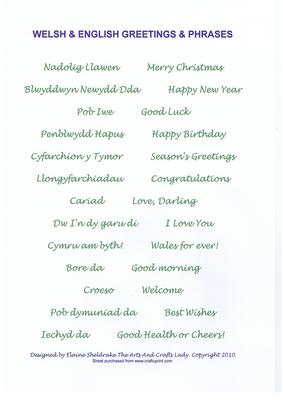 Welsh english greetings phrases green birthday xmas welsh english greetings phrases green birthday xmas cup58710604 craftsuprint m4hsunfo