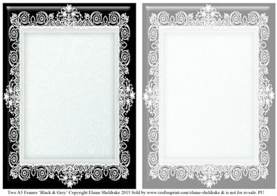 Black Grey Lace Frames 1 2 X A5 Cup600123604 Craftsuprint