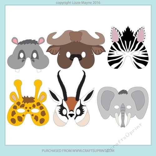 Safari And Jungle Animal Masks 3