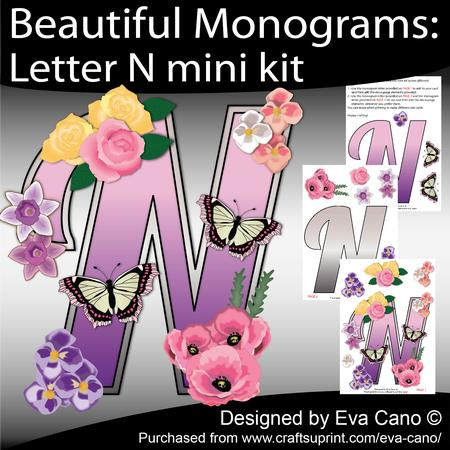 Beautiful Monograms: Letter N Mini Kit - CUP553814_750 ...