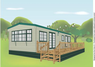 Static caravan a4 cup562287 750 craftsuprint for Home pictures images