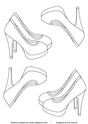 High heels digital stamp cup95302 750 craftsuprint for High heel template for cards