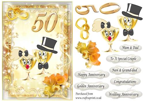 Golden Wedding Anniversary.Golden Wedding Anniversary