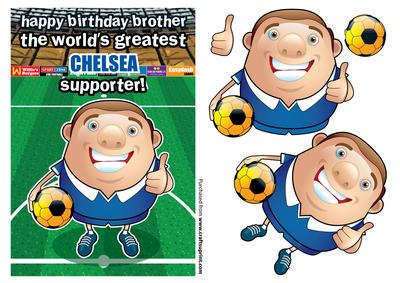 Chelsea Football Club Happy Birthday Brother CUP283050971 – Chelsea Birthday Card