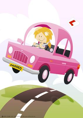 Passed Driving Test/ Good Luck Pink A4. - CUP112579_437 ...
