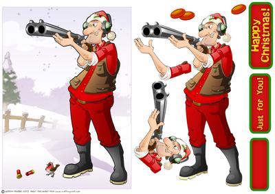 Christmas Clay Pigeon Shooting Dude - CUP359554_437 | Craftsuprint