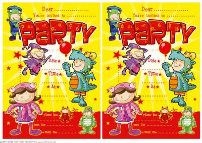 fancy dress party invites cup435435 437 craftsuprint