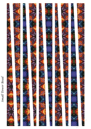 Small Tower Paper Beads Template Design 74 Cup913713 91416
