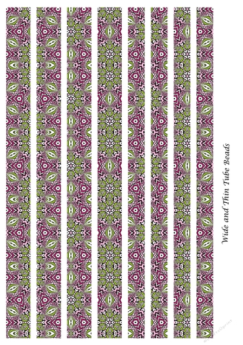 Mixed Tube Paper Beads Template Design 128 Cup917204 91416