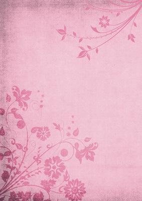 Shabby Chic Floral Flourish Background Dusky Rose