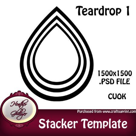 stacker pyramage template teardrop 1 cup422763 1885 craftsuprint