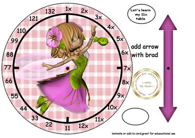 11x table fairy clock cup488044 107 craftsuprint for 11x table