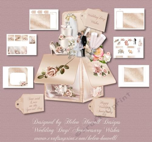 Wedding Wedding Anniversary Pop Up Box Cup962890 37881 Craftsuprint