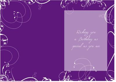 Swirl Insert Purple Birthday Cup168241 443 Craftsuprint Cards
