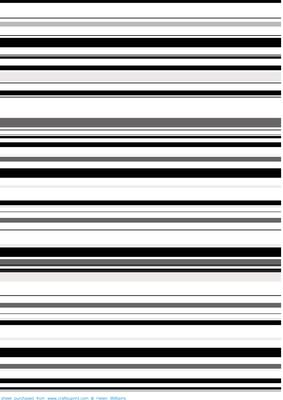 Black Amp White Horizontal Stripes Backing Paper Cup206797