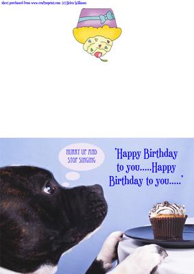 Staffordshire Bull Terrier Dog Birthday Card