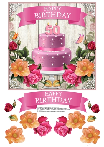 50TH BIRTHDAY CAKE FLOWERS