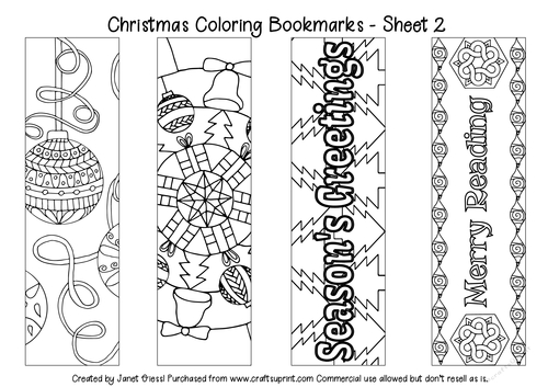 Christmas Coloring Bookmarks - Set 2 - CUP838968_70151 ...