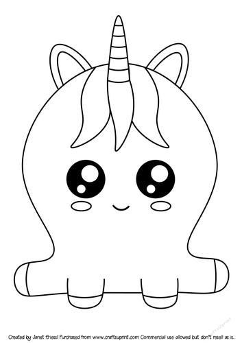 Cute Cartoon Unicorn Digi Stamp - CUP909507_70151 ...