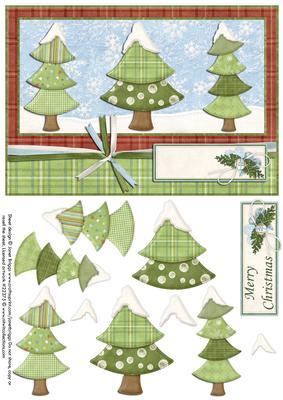 Contemporary Christmas Tree.3 Contemporary Christmas Trees Decoupage