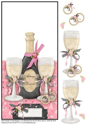 Wedding Or Anniversary Champagne Over The Edge Card