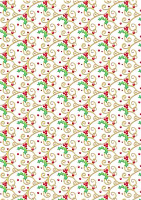 Holly Flourish On White Christmas Background Paper Cup21509468