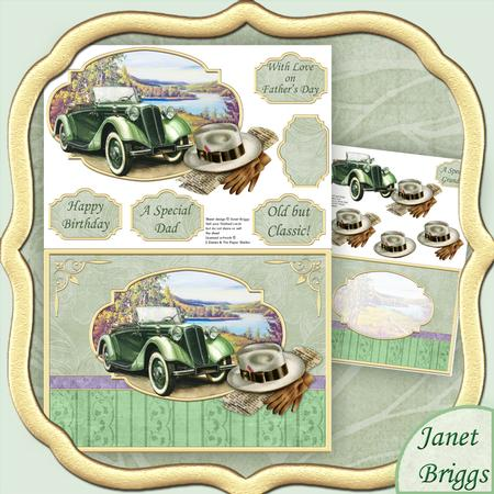 vintage country gent 2 sheet decoupage mini kit cup432793 68