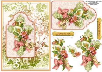 Easter or Sympathy Floral Cross Card Topper \u0026 Decoupage
