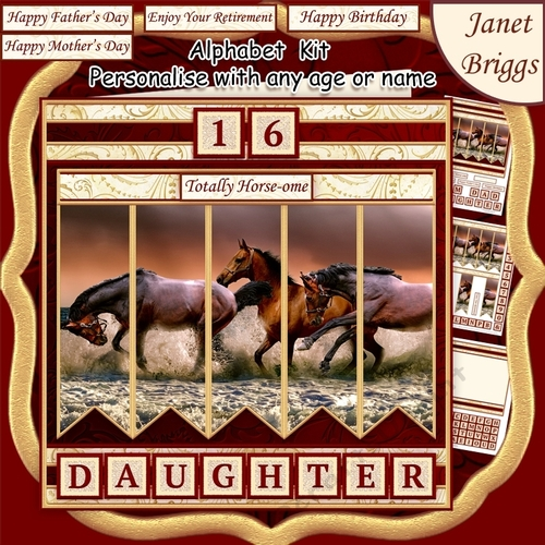 HORSES IN SEA 7.5 Alphabet And Age Quick Card Kit Create