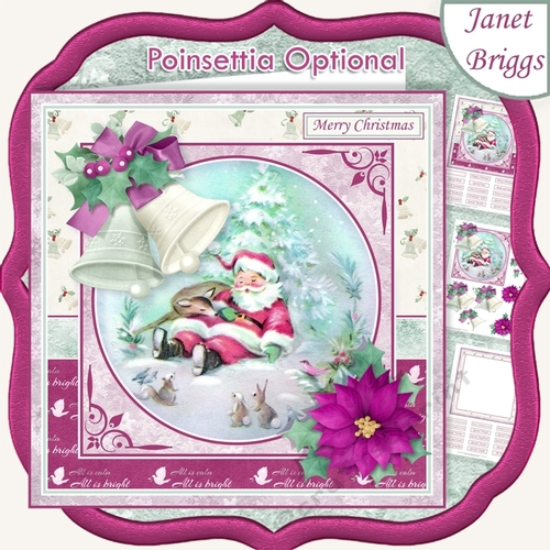 Traditional Christmas Card Topper Pack