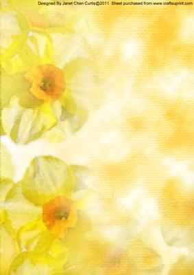Spring Flowers Daffodils Backing Paper Cup180855 730 Craftsuprint