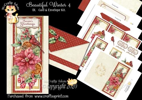 beautiful winter 4 dl card  envelope kit  cup1079066905