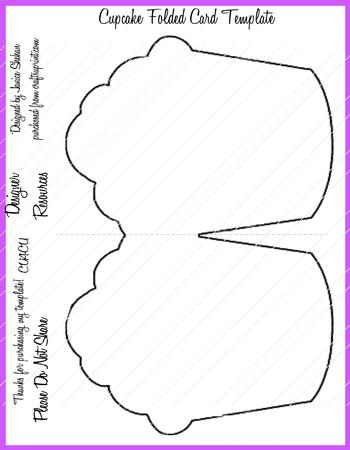 Cupcake Folded Card Template Png - CUP659725_2049 | Craftsuprint
