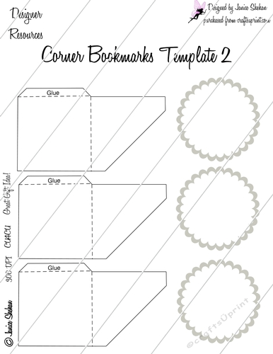 corner bookmark decoupage template 2 cup728785 2049 craftsuprint