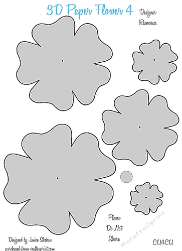 3d paper flower templates 4 cu4cu cup8497562049 craftsuprint mightylinksfo