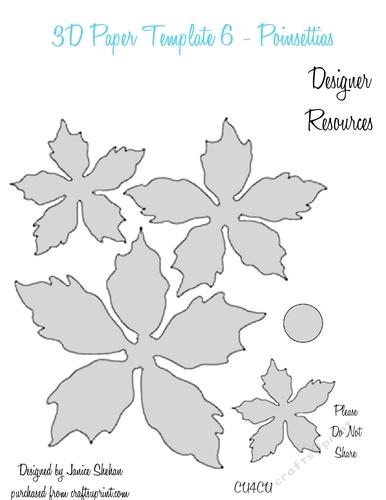 3d paper flower templates 6 cu4cu cup849760 2049 craftsuprint. Black Bedroom Furniture Sets. Home Design Ideas