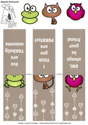 Animal Pun Valentine S Day Magnetic Bookmarks Cup597041 1550